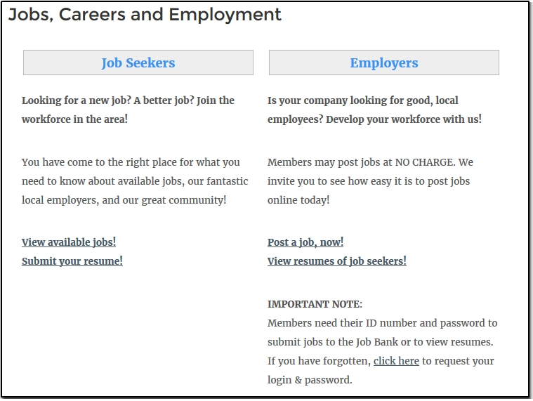 Accept New Jobs Or Resumes Submitted To The Online Job Bank